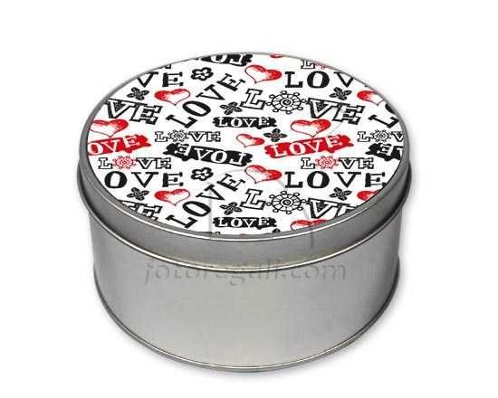 Scatola di latta tonda Love in caos