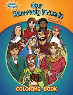 BROTHER FRANCIS COLORING BOOK introduces kids to St. Patrick and 6 more heavenly friends.
