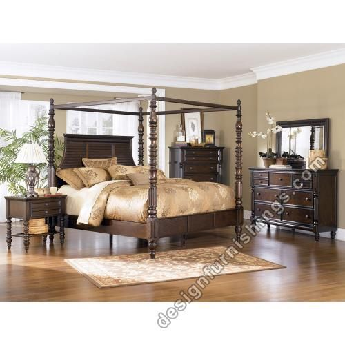 Ashley Canopy Bedroom Sets Details About Ashley Key Town Queen Canopy Bedroom Set