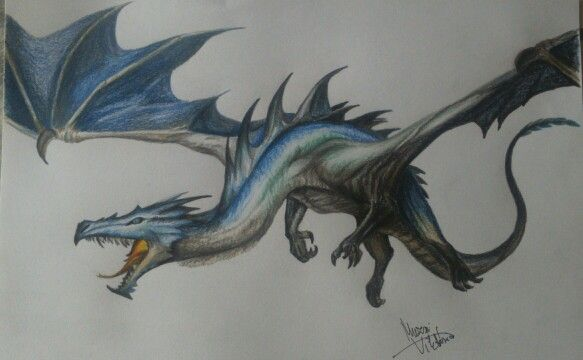 Lil Dragon ☺   #Dragon #drawing #bae