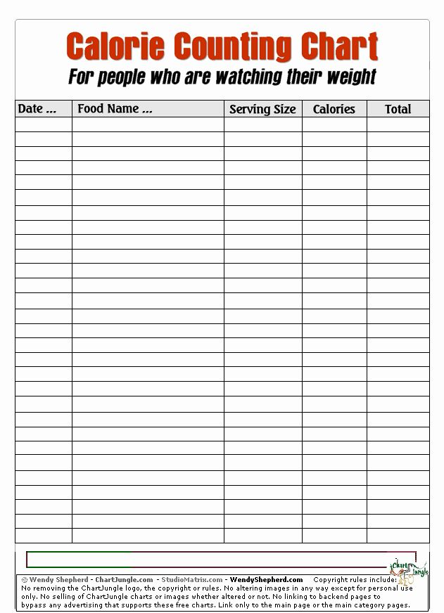 Printable Food Calorie Chart Luxury Name Calorie Counting Chart Calorie Chart Calorie Counting