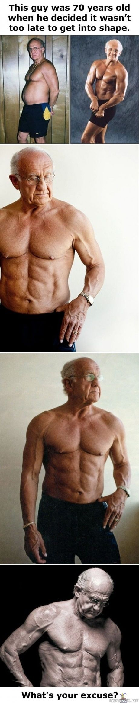 Nothing matters except willingness to sacrifice: Noexcuses, Fitness, Too Late, 70 Years, No Excuses, Fit Inspiration, Health, Guys, Fit Motivation
