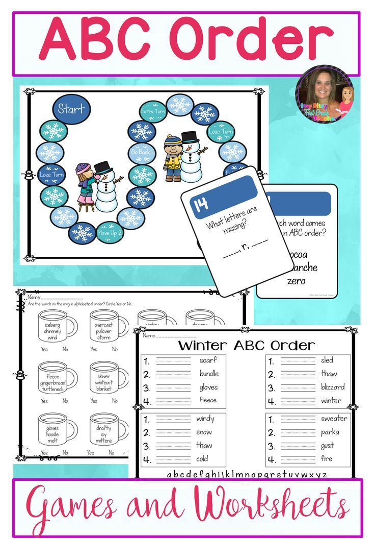 Practice alphabetical order to the first letter using hands-on games and  worksheets. This packet is …   Abc order [ 1097 x 736 Pixel ]