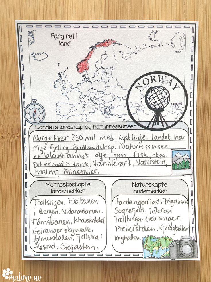 Undervisningsopplegg om Euripeiske land! Vi lærer av å utforske! Send elevene på jakt etter kunnskap med å undersøke. Prosjekt eller individuelt arbeid.