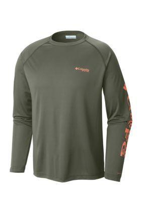 Columbia Cypress Bright Peach PFG Terminal Tackle Long Sleeve Shirt