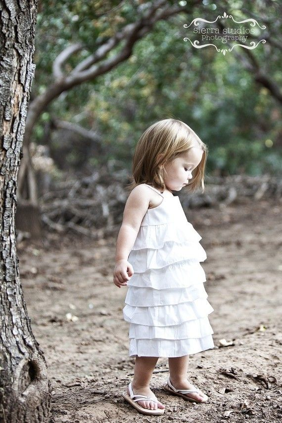 Don't know if we'll have a flower girl, one that can stand anyway. But if so she'd look so freaking sweet in this