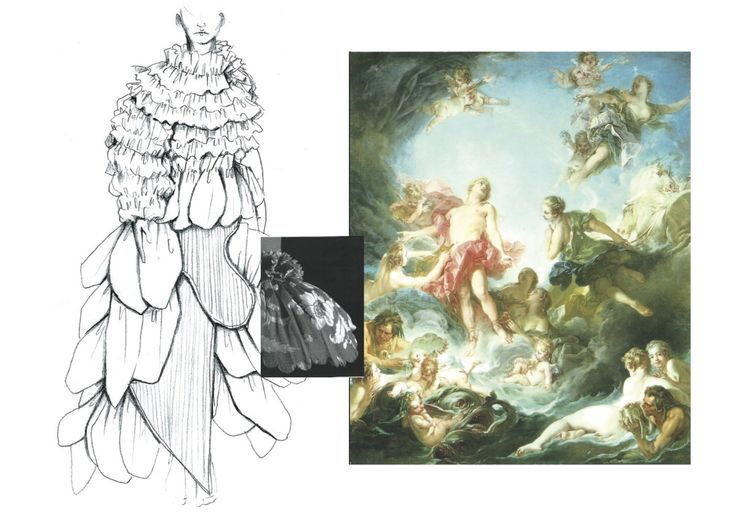 18TH CENTURY AESTHETICS, THE COMPLEXITY OF DRESS UNDERSTRUCTURES, RUSSIAN CONSTRUCTIVISM AND PERIOD FASHION SUM UP THE FRAMEWORK BEHIND THE WHITE SHOW GARMENT OF JOEL QUADRI -- FIRST YEAR BA FASHION STUDENT AT CENTRAL SAINT MARTINS http://1granary.com/central-saint-martins-fashion/the-white-series/joel-quadri/ #18thcentury #csm #centralsaintmartins #1granary #stays #corsetry #volume #drapery #sketchbook #collage #marieantoinette #honore #theswing #fragonard #rococo #madamedepompadour…
