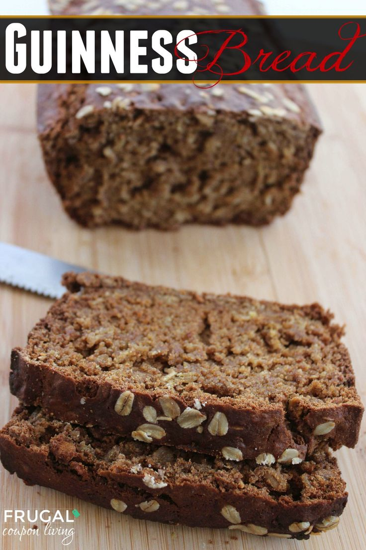 Frugal Coupon Living's Irish Recipe - Guinness Bread for St. Patrick's Day. Other Adult and Kid's St. Patty's Holiday Recipes including Stew and Cupcakes.