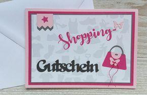 Gutscheine - Karte Gutschein Shopping - ein Designerstück von Kartenwald bei DaWanda