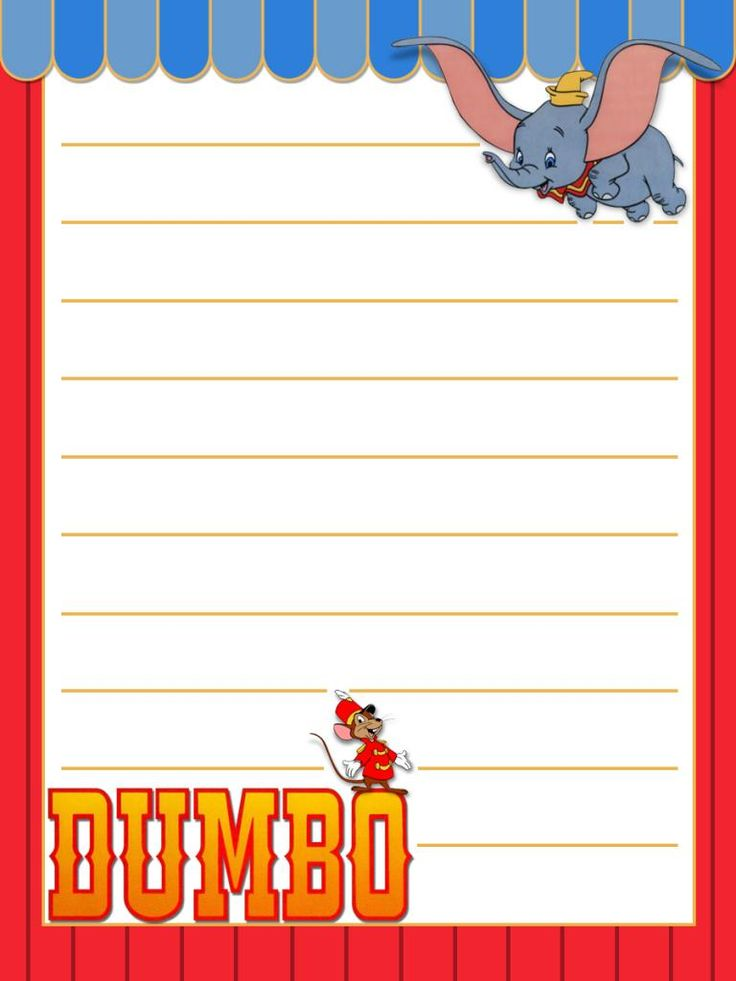 "Dumbo - Project Life Disney Journal Card - Scrapbooking.  ~~~~~~~~~ Size: 3x4"" @ 300 dpi. This card is **Personal use only - NOT for sale/resale** Logos/clipart belong to Disney."