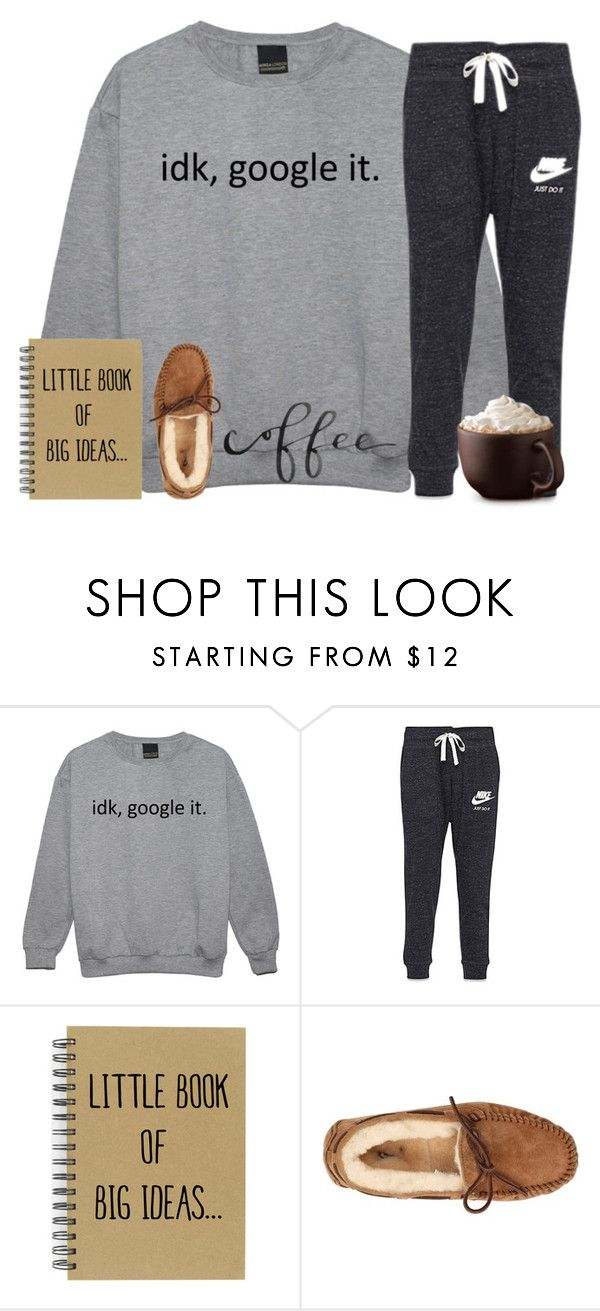 """rainy days and coffee :)"" by kreeves7 ❤ liked on Polyvore featuring NIKE and UGG Australia"