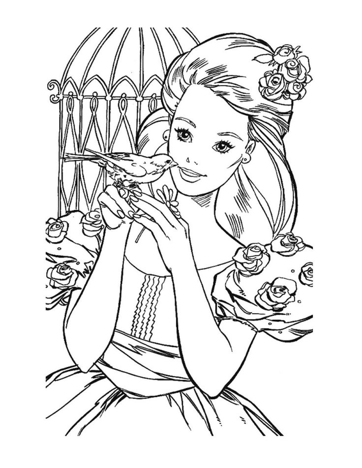 17 Best images about Barbie Coloring on Pinterest ...