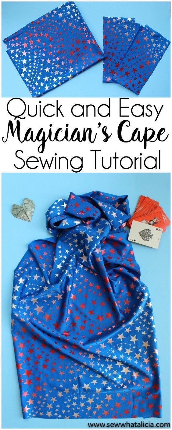 Quick and Easy Magician's Cape Tutorial: This tutorial is great for beginners. Learn to create this easy magician's cape in just minutes to beat summer boredom. Click through for the full tutorial. | www.sewwhatalicia.com