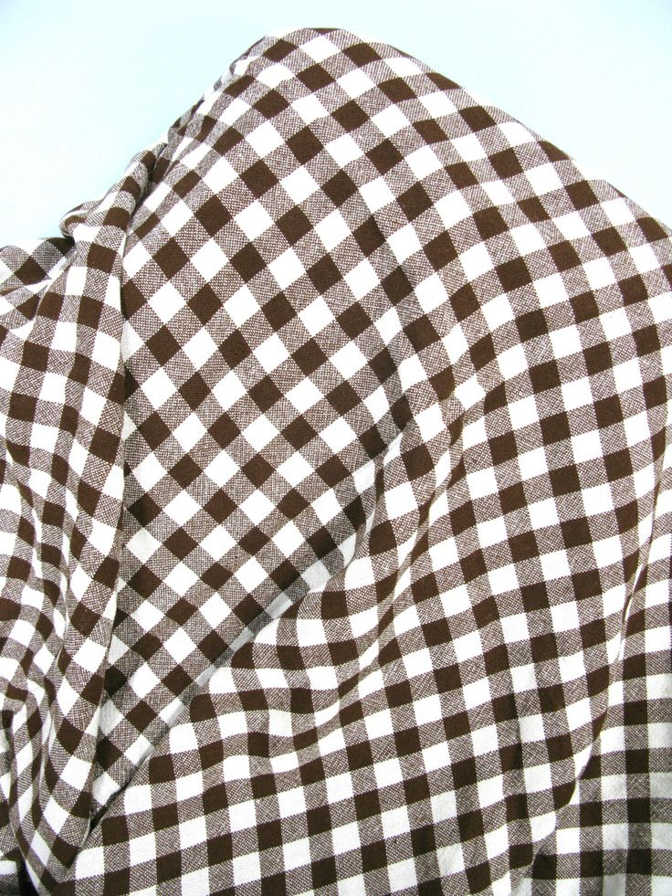 Gingham Tablecloth   Brown And Cream   Checked Tablecloth   Picnic  Tablecloth   Vintage Tablecloth