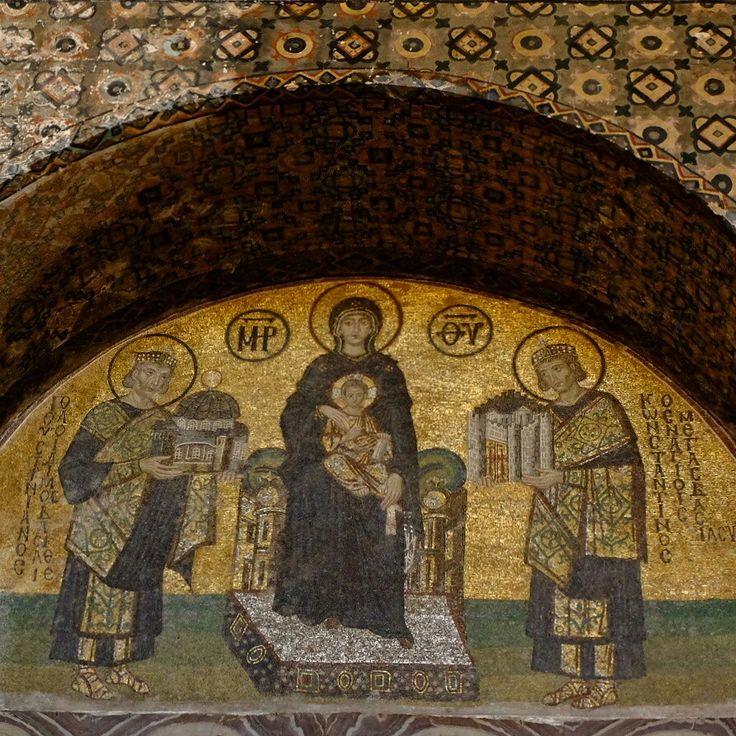 Wall painting of Maria Jesus Konstantinopel