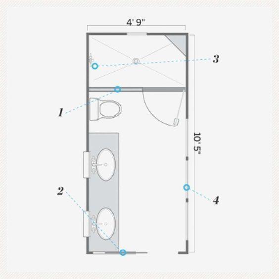 narrow master bathroom floor plans 10 free bathroom