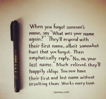 Figure out someone's name with this easy trick. So smart! :-)