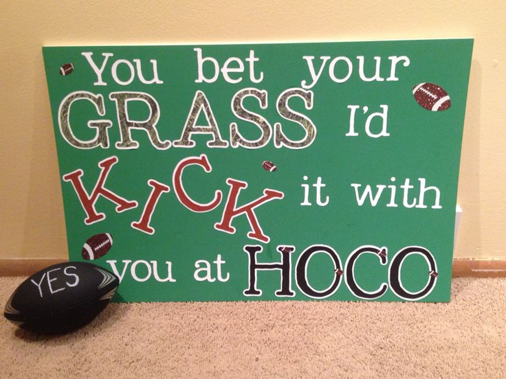 A cute way of answering a football player to a dance