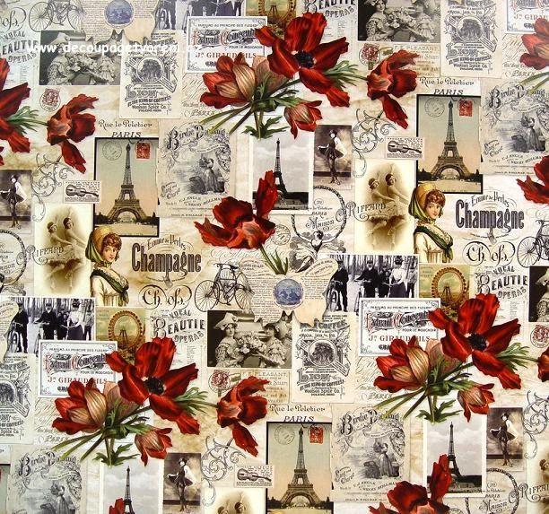 Vzpomínky na Paříž, 50x68 cm