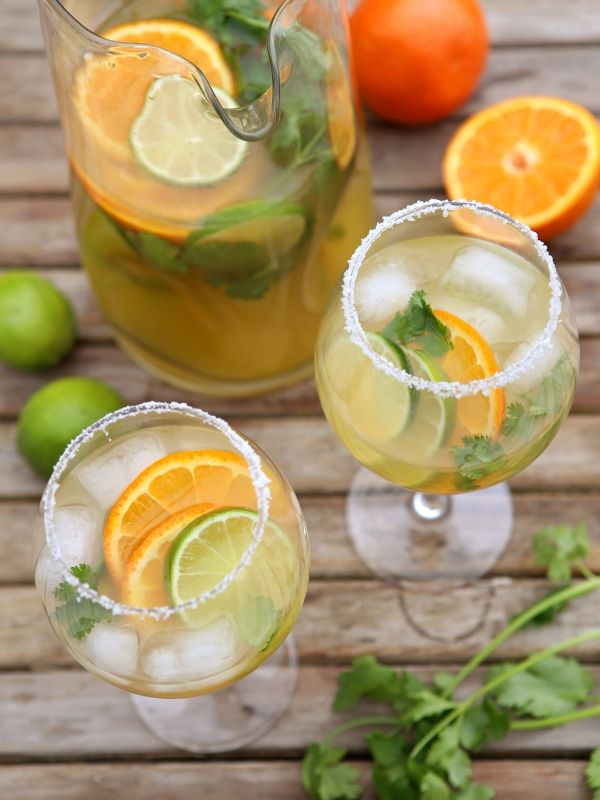 Margarita Sangria, perfect for Cinco de Mayo!  from completelydelicious.com