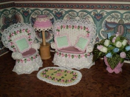 Free Knitting Patterns For Dolls House : 25+ best ideas about Crochet furniture on Pinterest