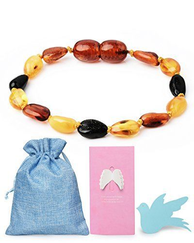 Rainbow Dove Baltic Amber Teething Bracelet Natural For Babies(Unisex) - Anti-inflammatory, Teething Pain Relief, Drooling, Fussiness Reduce Mix Cognac Honey Black 001 review It might seem too good to be true, but it's not at all. This bracelet actually works well on teething pain relief, drooling, and fussiness reducing for babies & toddlers, making the teething process a BREEZE. All this is benefited from succinic acid naturally on the Baltic Amber Natural...