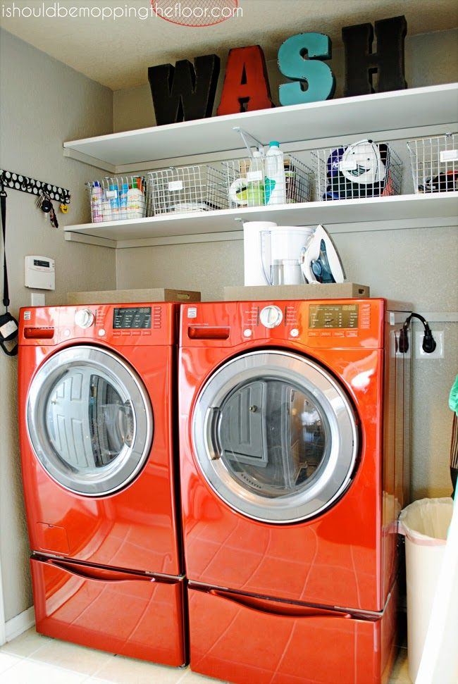 25 best ideas about orange laundry rooms on pinterest orange laundry room furniture diy - Small space laundry set ...