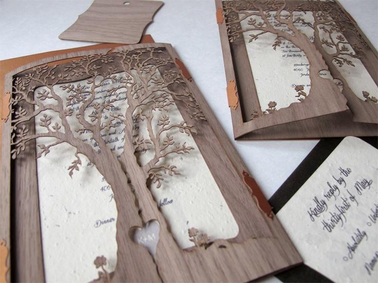 Laser Cut Wood Wedding Invitations: 15 Best Images About Wedding Invitation On Pinterest