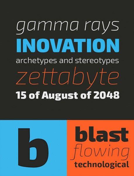 free fonts 2014 Exo 2