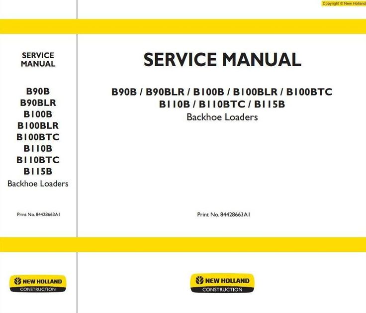 Original Illustrated Factory Workshop Service Manual for New Holland Backhoe Loaders B-Series. Original factory manuals for New Holland Trucks, contains high quality images, circuit diagrams and instructions to help you to operate, maintenance and repair your truck. All Manuals Printable, contains S