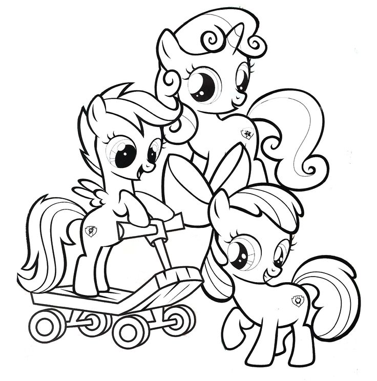 cutie mark crusaders, my little pony coloring page Horse