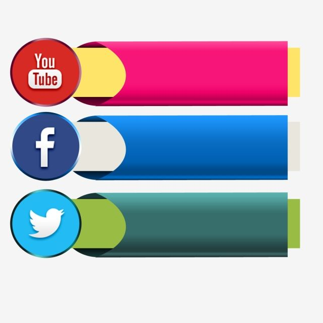 Page Channel Like Share Social Media Youtube Facebook Icon Ribbon Banner Vector Design Graphic Social Media Icons Social Media Facebook Icons