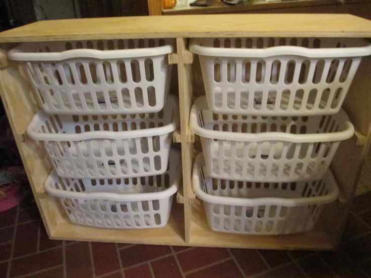 Nice Laundry Organization System