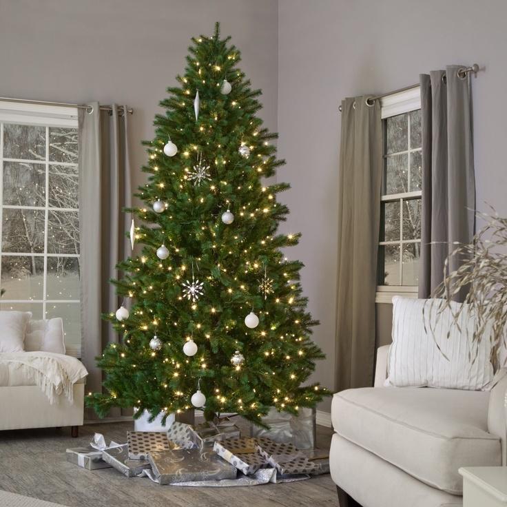 brite ideas shake to shape spruce medium pre lit christmas tree - Holiday Time Christmas Trees