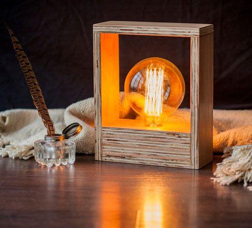 Las 25 mejores ideas sobre lamparas hechas a mano en - Lamparas de mesa originales ...