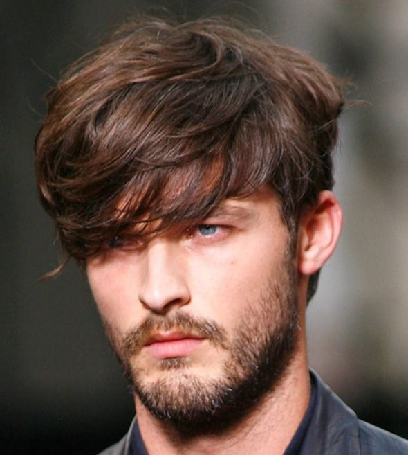 forme visage coiffure homme triangle inversé