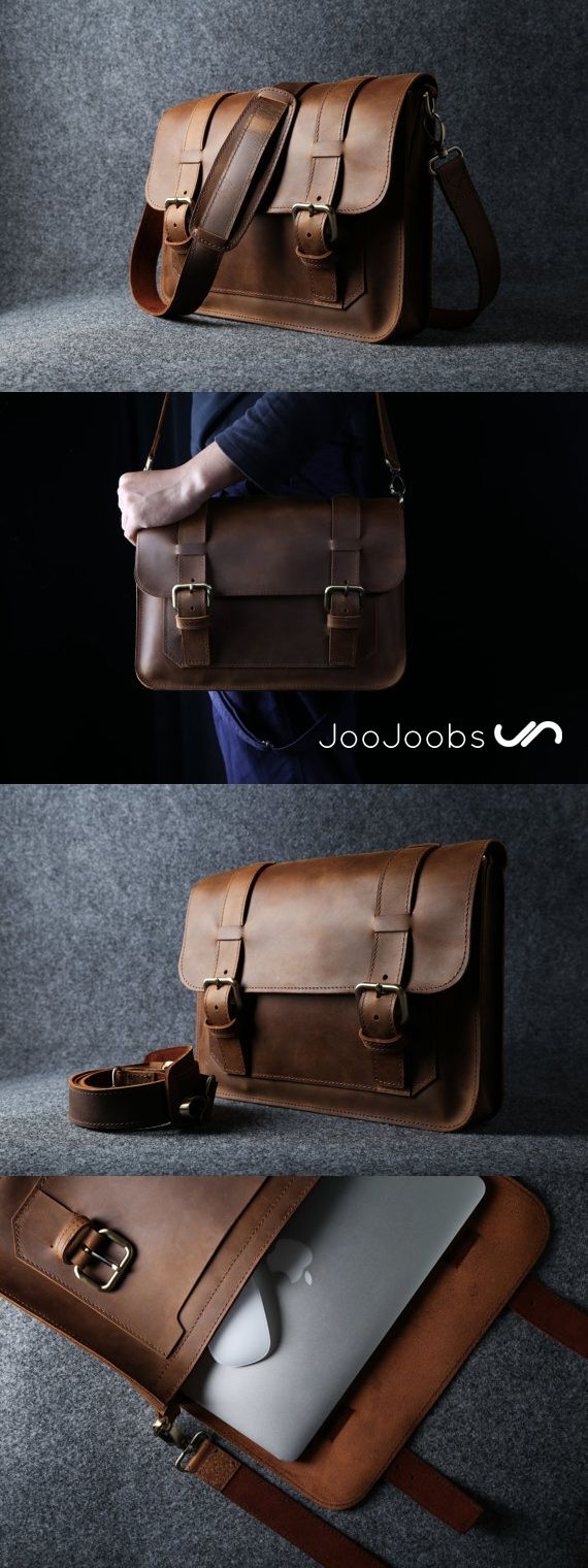 "Back by popular demand.  The original JooJoobs MacBook Leather Messenger bag is back!  This bag is super tough with reinforced stitching throughout.  This bag is designed for 13"" MacBook Pro and MacBook Air Laptops."