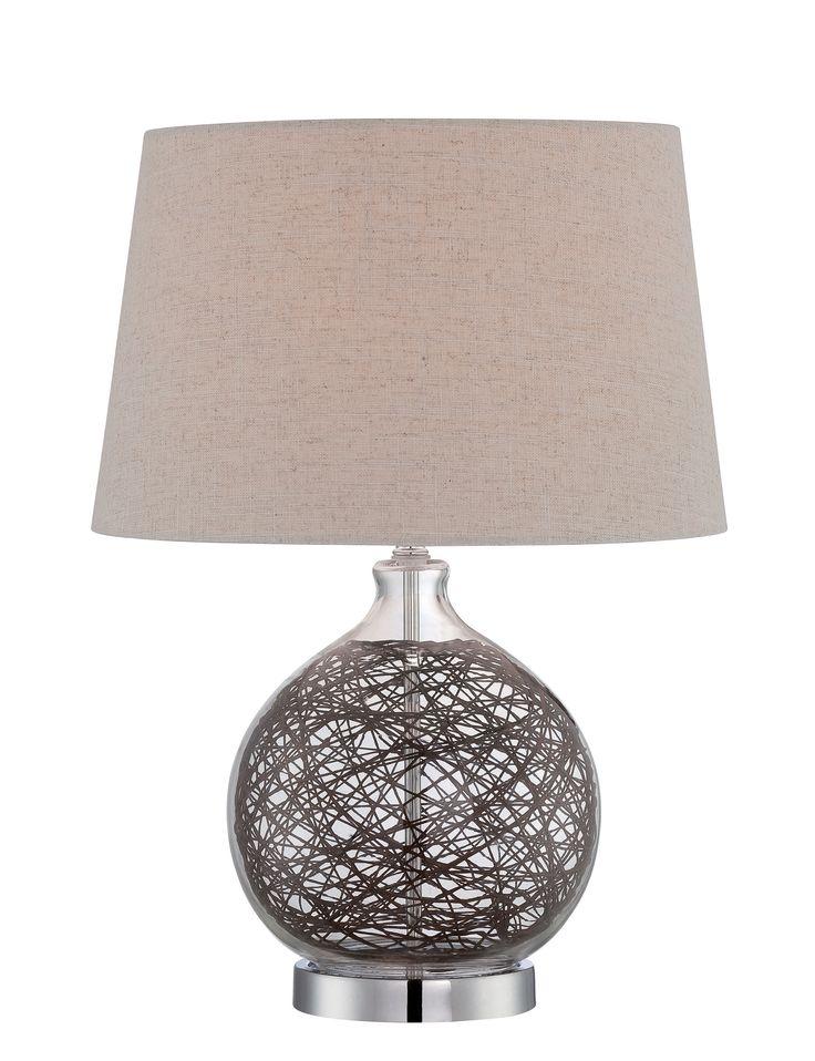 """Claral 20"""" H Table Lamp Wayfair Chrome table lamp"""