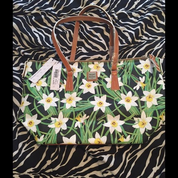 NEW Daffodil Dooney And Bourke shoulder bag Gorgeous leather tote, please no lowballing Dooney & Bourke Bags Shoulder Bags