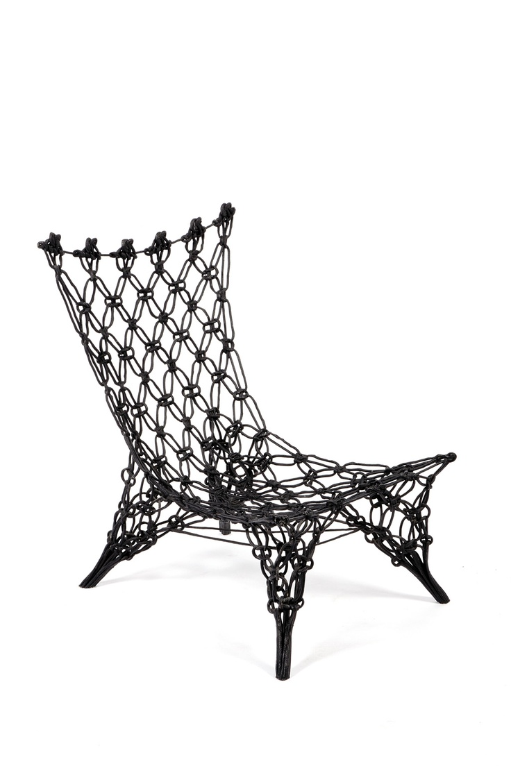 Klismos chair drawing - Marcel Wanders Knotted Chair 1996 Dutch Design