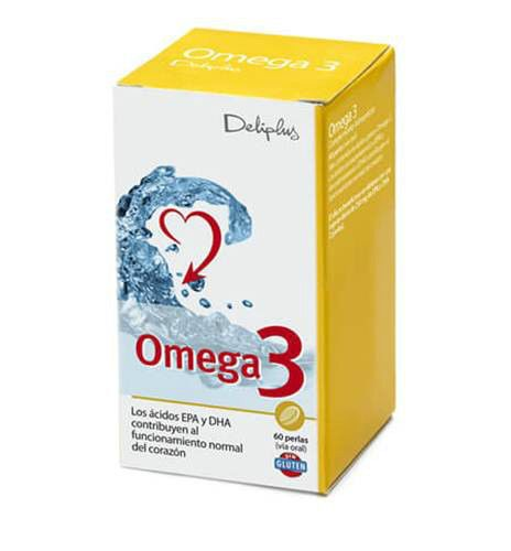NEW Premium OMEGA 3 Capsules 60 Food Suplement  FREE Shipping Heart  #Deliplus