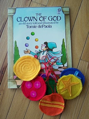 We Talk of Christ, We Rejoice In Christ: The Clown of God...Christmas Book Activity: Day 19