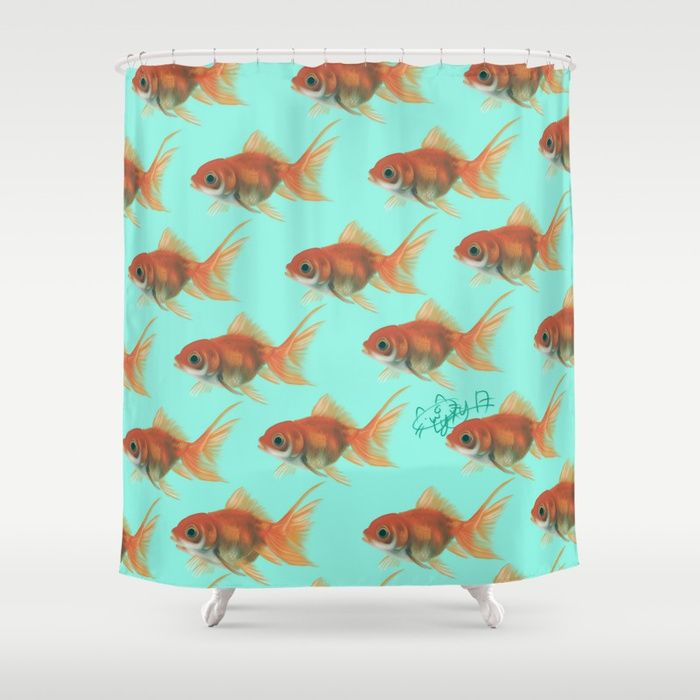 Buy goldfish Shower Curtain by lyxy. Worldwide shipping available at Society6.com. Just one of millions of high quality products available.