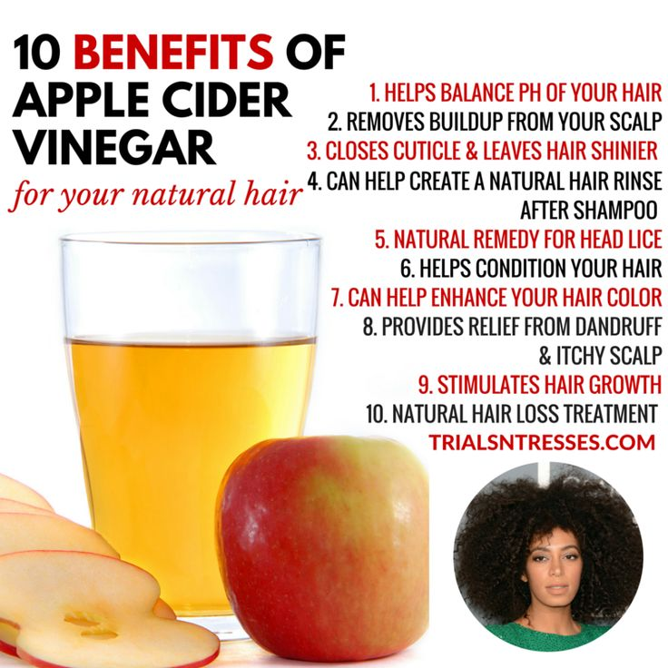 10 Benefits Of Apple Cider Vinegar For Your Natural Hair