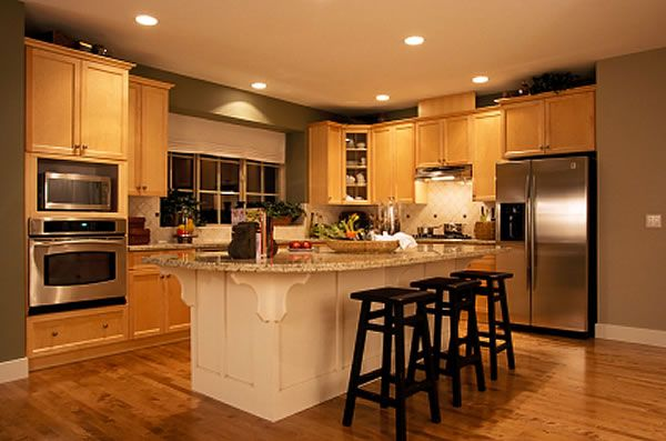 natural maple kitchen design | Payless Kitchen Cabinets Glendale CA kitchen remodeling contractors