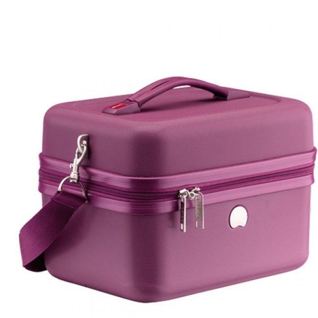 Delsey Chaumont Vanity Beauty-Case Compatible Systeme Troley Violet - maroquinerie noix d'arec