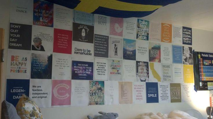 Cute quote print idea in Stanford dorm