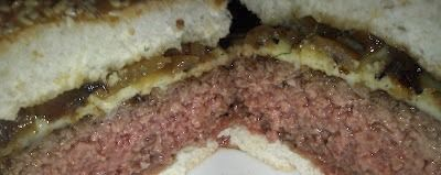 Inside the Natural Angus Burger at JM Curley in Boston, Massachusetts