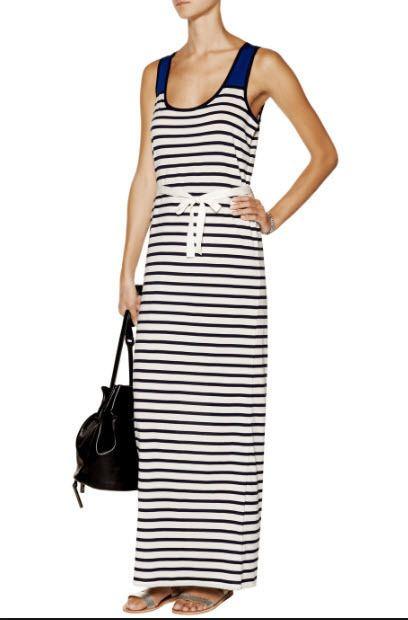 Petit Bateau Striped Maxi Dress XS UK 8 RRP 85