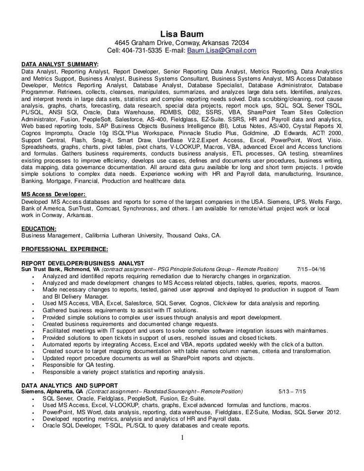 Data Analyst Resume Summary Uptodate Resume Data Analyst